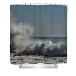 Winter Waves Shower Curtain