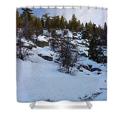 Winter White Shower Curtain by Heidi Smith