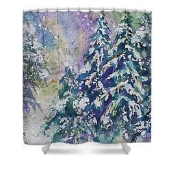 Winter Winds Shower Curtain by Ellen Levinson