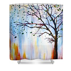 Winter Windstorm Shower Curtain