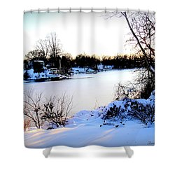 Winter Wonderland  In Maryland Usa Shower Curtain by Danielle  Parent