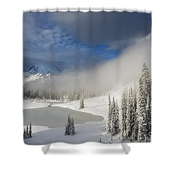 Winter Wonderland Shower Curtain by Mike  Dawson