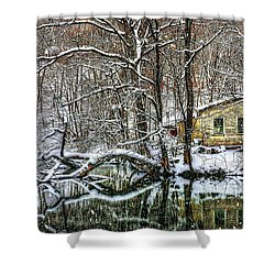 Winter Wonderland Shower Curtain by Randy Pollard