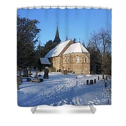 Winter Worship Shower Curtain