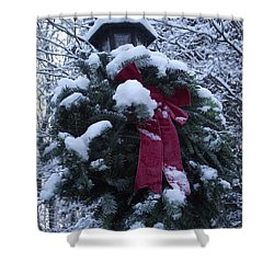 Winter Wreath Shower Curtain