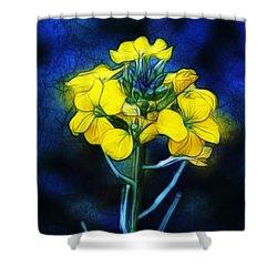 Wintercress Shower Curtain by Judi Bagwell
