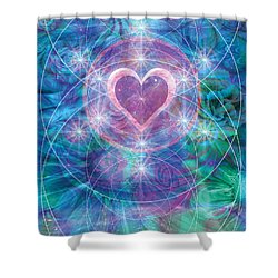 Winterheart Shower Curtain by Alixandra Mullins