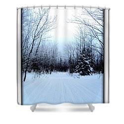 Winterlude In Abitibi Temiscamingue Quebec  Shower Curtain
