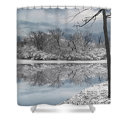 Winters Delight 6 Shower Curtain by Cedric Hampton