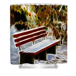 Winters Dream Shower Curtain by Mariola Bitner