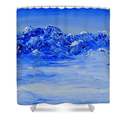 Winters Frosty Hues Shower Curtain