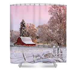 Winters Glow Shower Curtain