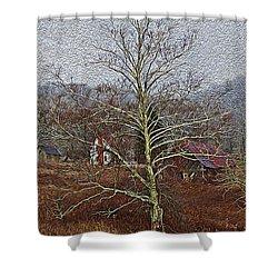 Winter's Sentinel V2 Shower Curtain