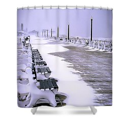 Winter's Silence Shower Curtain by William Walker