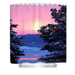 Shower Curtain featuring the photograph Winter's Sunrise by Elizabeth Winter