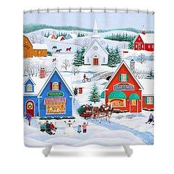 Wintertime In Sugarcreek Shower Curtain by Wilfrido Limvalencia