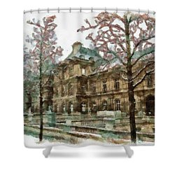 Wintertime Sadness Shower Curtain by Ayse and Deniz