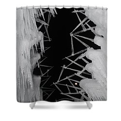 Wintery Ice Farming  Shower Curtain
