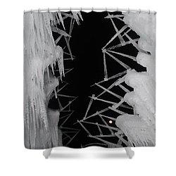 Wintery Ice Farming  Shower Curtain