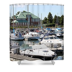 Shower Curtain featuring the photograph Winthrop Harbor by Debbie Hart