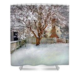 Wintry Garden Shower Curtain