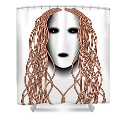 Wired Shower Curtain by Christopher Gaston