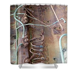 Shower Curtain featuring the photograph Wired by Newel Hunter