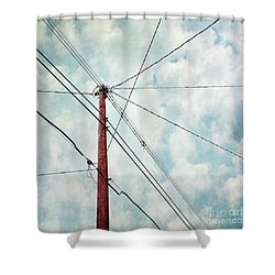 Wired Shower Curtain by Priska Wettstein