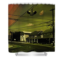 Wires In The Sky Shower Curtain by Alexei Biryukoff