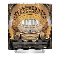 Wisconsin Architecture Shower Curtain