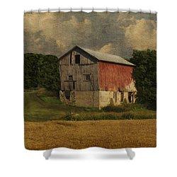 Wisconsin Barn Shower Curtain by Jack Zulli