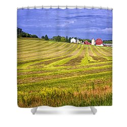 Wisconsin Dawn Shower Curtain by Joan Carroll