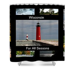 Shower Curtain featuring the photograph Wisconsin For All Seasons by Kay Novy
