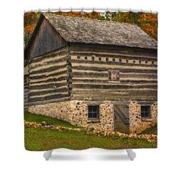 Wisconsin Homestead Shower Curtain by Jack Zulli