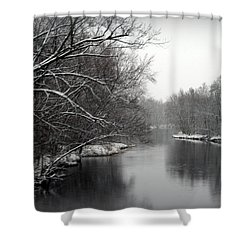 Wisconsin River Shower Curtain by Kay Novy