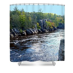 Wisconsin Shores 1 Shower Curtain by Will Borden