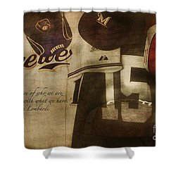 Wisconsin Sports Shower Curtain