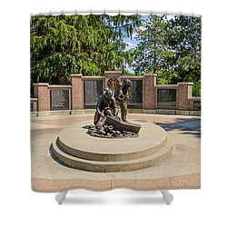 Shower Curtain featuring the photograph Wisconsin State Firefighters Memorial 1 by Susan  McMenamin