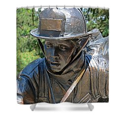 Shower Curtain featuring the photograph Wisconsin State Firefighters Memorial 3  by Susan  McMenamin