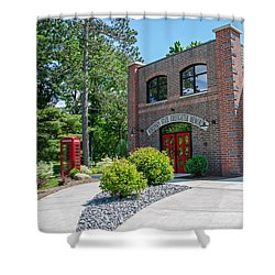 Shower Curtain featuring the photograph Wisconsin State Firefighters Memorial 6 by Susan  McMenamin