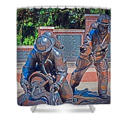 Shower Curtain featuring the photograph Wisconsin State Firefighters Memorial Park 2 by Susan  McMenamin