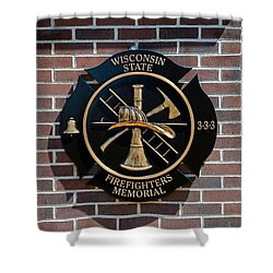 Shower Curtain featuring the photograph Wisconsin State Firefighters Memorial Park 5 by Susan  McMenamin