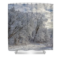Wisconsin Winter Shower Curtain by Joan Carroll