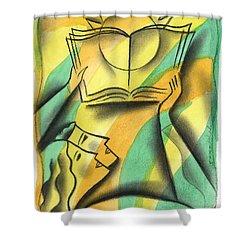 Wisdom Shower Curtain by Leon Zernitsky