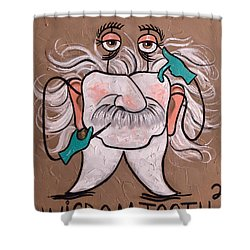 Wisdom Tooth 2 Shower Curtain by Anthony Falbo