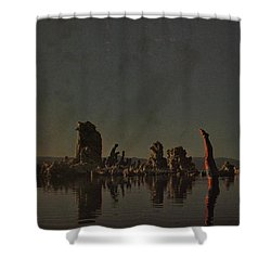 Wish You Were Here Shower Curtain by Rob Hans