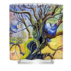 Wishfull Thinking Shower Curtain by Margaret Schons
