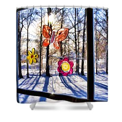 Shower Curtain featuring the photograph Wishing For Spring 1 by Mark Madere