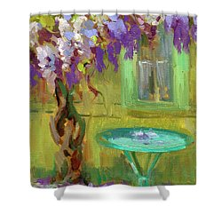 Wisteria At Hotel Baudy Shower Curtain