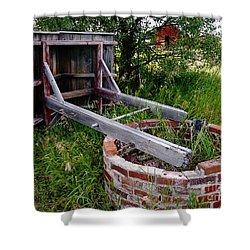 Wistful Well Shower Curtain by Meghan at FireBonnet Art